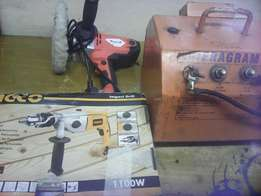 Oil welder,big heavy duty drill and a buffer