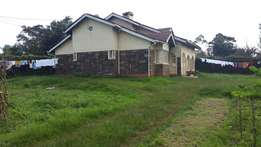 3 bedroomed house in Limuru town on 1/4 acre plot at 8.5m negotiable.