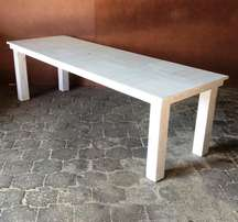 Patio table Cottage series 2430 White wash
