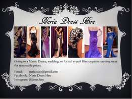 Formal dresses for hire