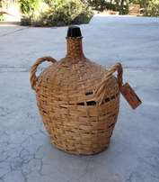 Vintage 15 inch demijohn carboy wicker wrapped