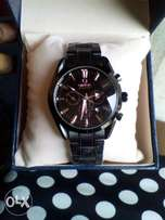 Omega Black chain wristwatch