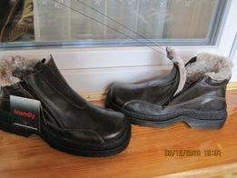 Зимові шкіряні черевики з натуральної шкіри і хутра. Розмір - 42. 4ca49da461d4a