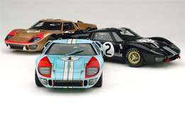Exoto 1:18 Model Ford GT40 MKII 1966 set of 3 Le Mans winners