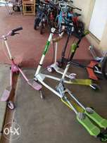 Scooters for sale.