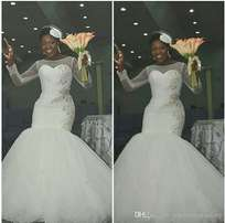 Gorgeous wedding gown at affordable price
