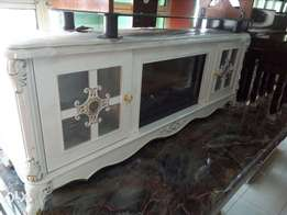 Brand new fire place TV stand