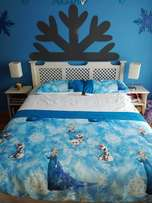Double bed base, Mattress, headboard and side tables