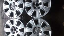 16 inches Audi mag Rims for sell with Bridgestone run flat tyres