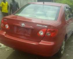 Clean Tokunbo Toyota Corolla 2005 for N2.2m