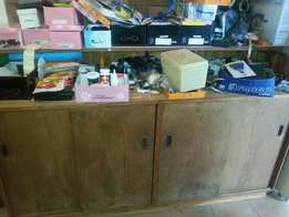 Large Wooden Counter for sale - being cleared and cleaned