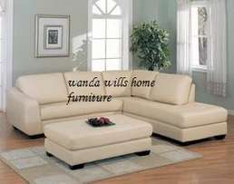 Five seater curved arm L sofa