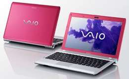 Pink Sony Vaio Notebook and Accessories