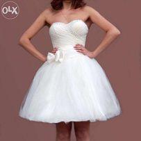 3cf2e7b7f1ef332 продам свадебное платье короткое корсажное цвета айвори