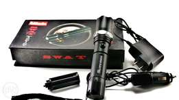 Bright SWAT LED Flashlight Torch Rechargeable. Delivery Available
