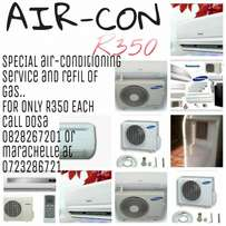 Refill and service and installation on aircorns