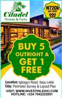 Latest offer Buy 5 Plots and Get 1 Plot FREE