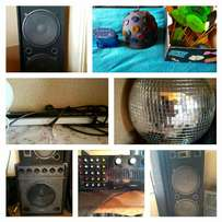Dj Sound Speakers, amp and lights