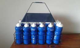 Wire Water Bottle Carrier including 12 water bottles