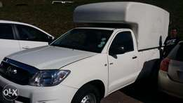 Hilux Enclosed Canopy.