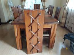 Real Mahogany 8 chair and matching coffee table