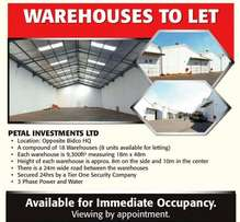 To Let - Warehouse, 9300 Sq Ft in Thika