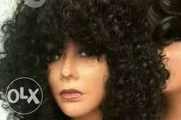 Curls fringe wig available
