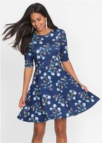 04afdb3f6a BonPrix Sukienka neoprenowa 46 BODYFLIRT kobaltowa w kwiaty niebieska