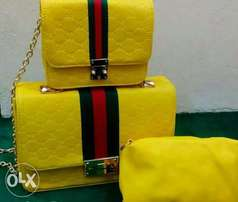 Ladies gucci bag set