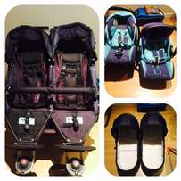 TFK Twin Pram and Accessories for Sale