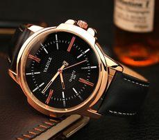 Мужские кварцевые часы YAZOLE 358 Кожаный ремешок 4ab4455e3efd0