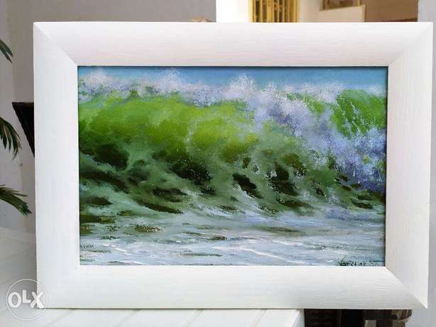 Picture photo painting Sea Wave Ocean