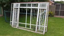 4 x Steel window frames
