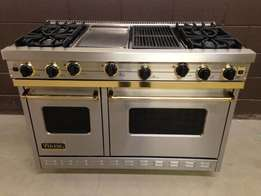 4 Burners Professional + Griddle + Grill
