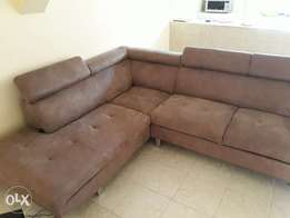 Larisa L shape sofa 4months old perfect condition