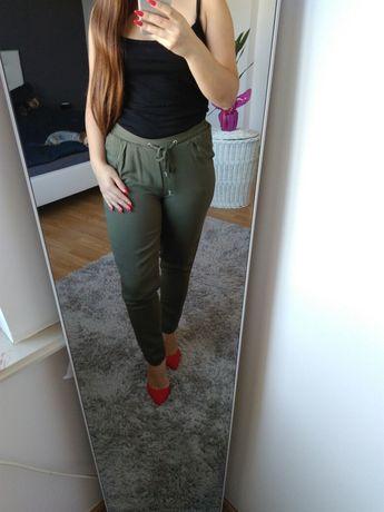 Archiwalne: Spodnie Sinsay xxx 32 khaki joggery na gumce