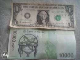 Bank notes for sale