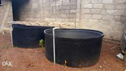 2Pcs 2000ltrs Capacity GeePee Plastic Fishpond
