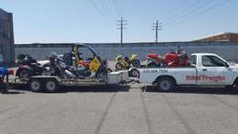 Transporting motorbikes door to door all over SA and Namibia