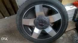 20inch rims with tyres one tyre is bald