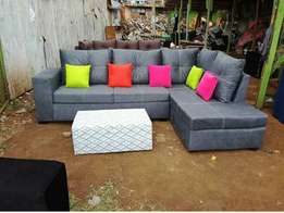 Amazing offer on clean L shaped sofa