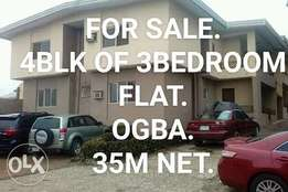 Neat 4 Block of 3Bedroom Flat For Sale.