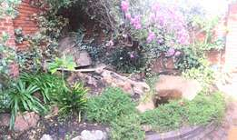 Fish pond consisting of two ponds and a rock feature