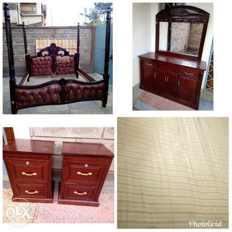 6 by 6 bed with a dressing table,side drawers, a mattress and a net South C - image 1