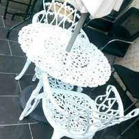 Garden set by 4chairs with umbrella