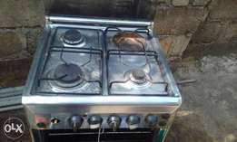 4 burners standing gas cooker