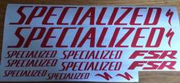 Specialized S-Works bicycle frame rim stickers graphics kits