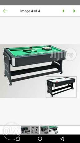 Imported 2 in 1 snooker nd hockey table Sabon birni - image 1