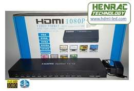 HDMI Splitter 12 way New, (1in, 12out) Full HD, 3D