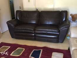 Lazyboy Leather Recliner Sofa